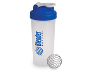 BLENDER BOTTLE SUPER SHAKER MEZCLADOR W/BALL 600ML BLUECAP